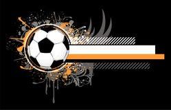 le football de grunge de conception illustration libre de droits