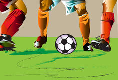 Le football de jambes Images stock