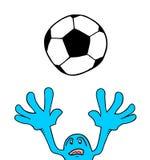 Le football de jeu Photo stock
