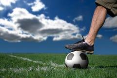le football de joueur Image stock
