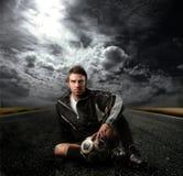 le football de joueur Images stock