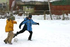 Le football de l'hiver Images libres de droits