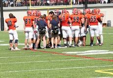 Le football de la division III de NCAA d'université Images stock