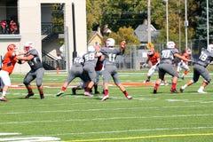 Le football de la division III de NCAA d'université Photo libre de droits