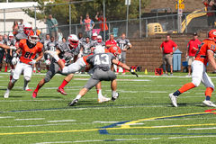 Le football de la division III de NCAA d'université Images libres de droits