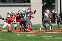 Le football de la division III de NCAA d'université Photographie stock