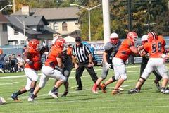Le football de la division III de NCAA d'université Photos libres de droits