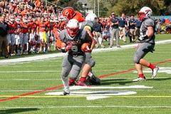 Le football de la division III de NCAA d'université Image stock