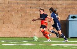 Le football de la division III Women's de NCAA d'université Images stock