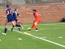 Le football de la division III Women's de NCAA d'université Images libres de droits