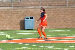 Le football de la division III Women's de NCAA d'université Photographie stock libre de droits