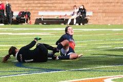 Le football de la division III Women's de NCAA d'université Photo stock