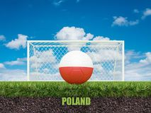 Le football de la Pologne sur le football ou le terrain de football Images libres de droits