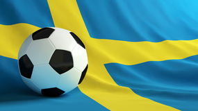 Le football de la Suède Photos stock