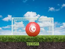 Le football de la Tunisie sur le football ou le terrain de football Image libre de droits