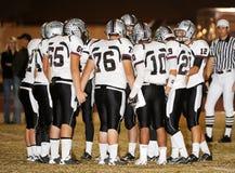 Le football de lycée photo stock