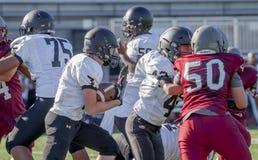 Le football de lycée image stock