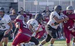 Le football de lycée Photo libre de droits