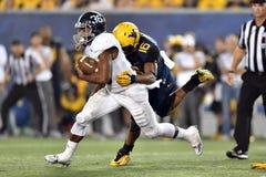 2015 le football de NCAA - GA @ WVU du sud Images libres de droits