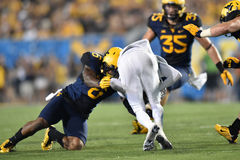 2015 le football de NCAA - GA @ WVU du sud Photographie stock libre de droits
