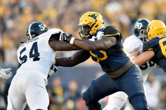 2015 le football de NCAA - GA @ WVU du sud Photos stock