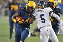2015 le football de NCAA - GA @ WVU du sud Image stock