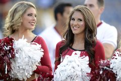 2014 le football de NCAA - le WVU-Oklahoma Images libres de droits