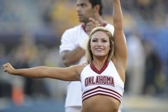2014 le football de NCAA - le WVU-Oklahoma Photo stock