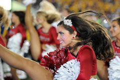 2014 le football de NCAA - le WVU-Oklahoma Photos libres de droits