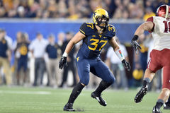 2014 le football de NCAA - le WVU-Oklahoma Photos stock