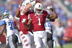 2015 le football de NCAA - Memphis au temple Images stock