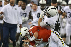 2015 le football de NCAA - Penn State contre Le Maryland Images libres de droits