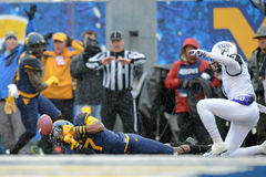 2014 le football de NCAA - TCU-WVU Image libre de droits