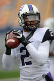2014 le football de NCAA - TCU-WVU Photo stock