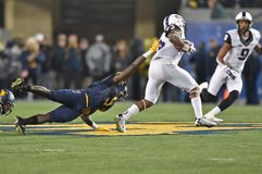 2014 le football de NCAA - TCU-WVU Image stock