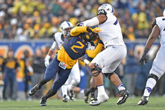 2014 le football de NCAA - TCU-WVU Images stock