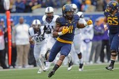 2014 le football de NCAA - TCU-WVU Image libre de droits