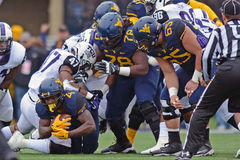 2014 le football de NCAA - TCU-WVU Photo libre de droits