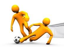 Le football de palan Images libres de droits