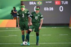 Le football de Paralympic Photographie stock