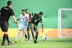 Le football de Paralympic Photo stock