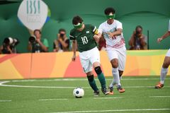 Le football de Paralympic Images libres de droits