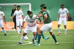 Le football de Paralympic Image libre de droits