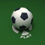 Le football de pièce illustration stock