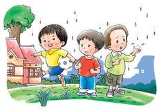Le football de pièce de garçons illustration de vecteur