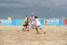 Le football de plage Images libres de droits