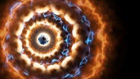 Le football de puissance Actionnez le feu et le courant d'énergie dans l'action autour du ballon de football Photo stock