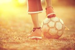 Le football de rue Images libres de droits