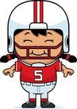 Le football de sourire de bande dessinée illustration stock