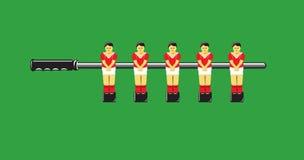Le football de table Images libres de droits